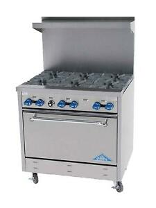 Comstock Castle F330 36in Commercial Gas Range W 6 Burners 31 5in Oven Base