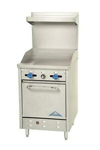 Comstock Castle 24in Commercial Gas Range W Std Oven 24 Raised Griddle