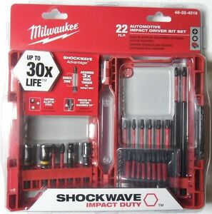 Milwaukee Shockwave Automotive Impact Driver Bit Set Torx Sockets 48 32 4016