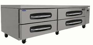 Nor lake Nlcb84 84in Four Drawer Refrigerated Chef Base Equipment Stand