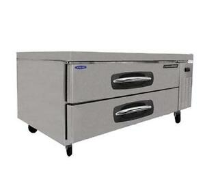 Nor lake Nlcb60 60in Two Drawer Refrigerated Chef Base Equipment Stand