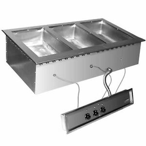 Eagle Group Sgdi 3 240t Drop in Wet Or Dry Type Hot Food Well Unit 240v