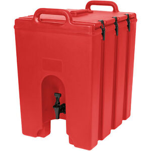 Cambro 1000lcd158 Camtainer 11 3 4 Gallon Beverage Carrier Hot Red