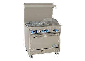 Comstock Castle F330 12 36 Commercial Gas Range W 4 Burners 12in Griddle