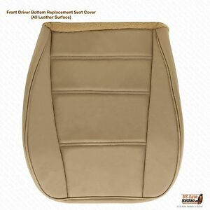 2001 2002 2003 2004 Ford Mustang V6 Driver Side Bottom Leather Seat Cover Tan