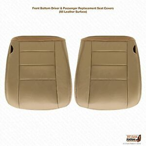 2002 2003 Excursion Limited Driver Passenger Bottom Leather Seat Cover s Tan