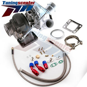 Tct T04e T3 T4 A R 63 73 Trim 420 Hp Stage Iii Turbo Charger Oil Line Kits