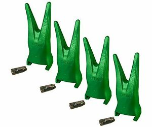 4 Esco Style Super V Backhoe Excavator Bucket Twin Rock Teeth