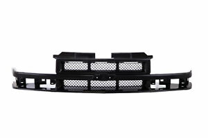 Am Black Grille W Center Bar For 98 04 Chevy S10 Pickup Truck Xtreme Reg Ext Cab