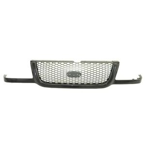 Am New Front Grille W Argent Honeycomb Mesh Black Surround For 01 03 Ford Ranger
