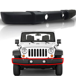 Front Bumper Cover Texture Dark Gray Replacement For 07 18 Wrangler 2dr 4dr