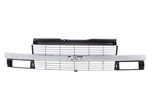 Am New Front Upper Grille For Chevrolet Astro Chrome Gm1200371 15760162