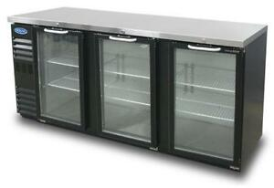 Nor lake Nlbb72ng 19 6 Cu Ft Refrigerated Back Bar Cabinet With 3 Glass Doors