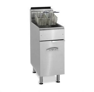 Imperial Range Ifs 50 op 50lb Stainless Steel Gas Open Pot Deep Fat Fryer