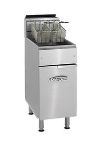 Imperial Range Ifs 40 40lb Gas Floor Model Deep Fat Fryer 105 000btu