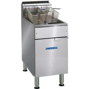 Imperial Range Ifs 75 75lb Gas Floor Model Deep Fryer 175 000btu
