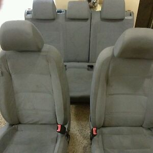 Front And Rear Set Seats Grey Volkswagen Jetta Se 2008 2010