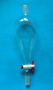 1000ml 24 40 glass Separatory Funnel pear Shape 1l ptfe Stopcock ground Joint