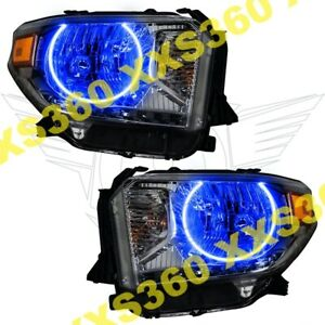 Oracle Halo Headlights For Toyota Tundra 14 17 Blue Led Angel Demon Eyes