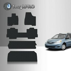 Toughpro Black Rubber Heavy Duty Custom Floor Mats For 2004 2010 Sienna 8 Seater