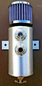 Brushed Baffled Aluminum Oil Catch Can With Breather Filter 10 An