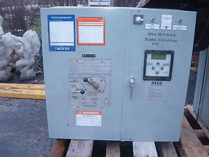 Asco Generator Transfer Switch 260 Amp 208 120 Volt Used