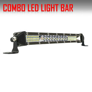Ultra Thin 22inch 416w Led Work Light Bar Spot Flood Combo Truck Single Row 20
