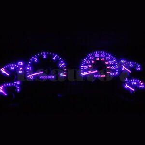 Dash Instrument Cluster Gauge Purple Leds Lights Kit Fits 97 01 Jeep Cherokee Xj
