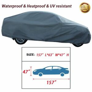 Full Auto Car Cover S Size Small Heat Sun Uv Dust Protection Car Up To 157