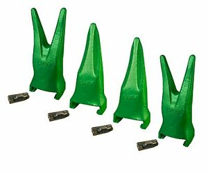 4 Esco Style Super V Excavator Bucket Tiger Rock Teeth Pins V19tvy V19vy