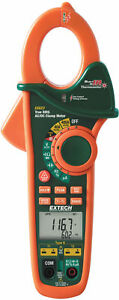 New Extech Ex623 400a Dual Input Ac dc Clamp Meter Ncv Ir Thermometer