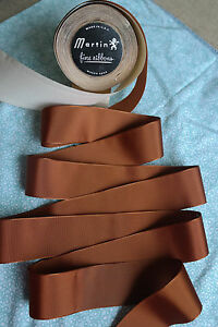 10 Yard 1 1 2 Wide Vintage Roll Grosgrain Golden Brown Ribbon Hat Dress 229