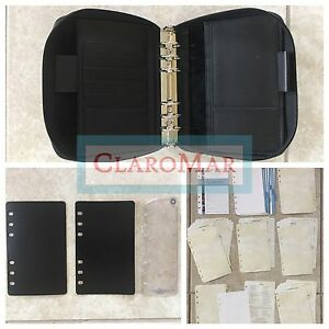 Franklin Covey Compact Black Full Grain Leather Planner Binder