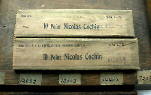 Atf Nos 10pt Nicholas Cochin Lower case Original 1920 s Wraps