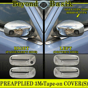 2006 2010 Dodge Charger Chrome Door Handle Covers Mirror Painted Style Overlays