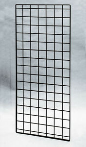 4 Pc New Retail Black Finish Double Wire grid Panel 56 X 24