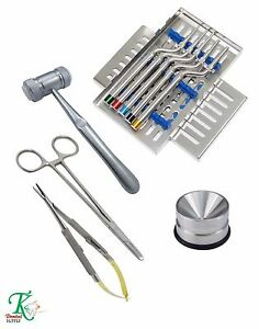 Implantology Sinus Osteotome Kit Mead Mallets Bone Grafting Amalgam Well New Ce