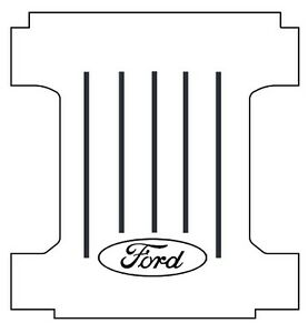 1957 1960 Ford Styleside Truck Bed Floor Cover With F 003 Ford Oval Logo