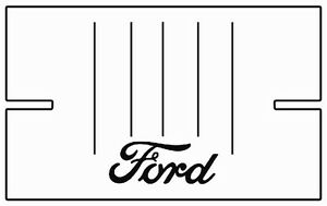 1941 1948 Ford Sedan Delivery Truck Bed Floor Cover With F 001 Ford Script Logo