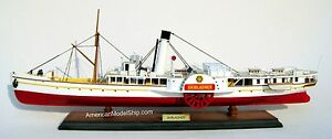 Skibladner Paddle Steam Boat Ship Model 28 Handcrafted Wooden Ship Model New