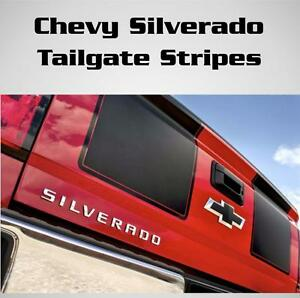 Chevy Silverado Gmc Seirra Tailgate Racing Stripes Vinyl Decal Sticker All Years