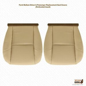 2007 2008 Cadillac Escalade Driver Passenger Bottom Leather Seat Cover Tan