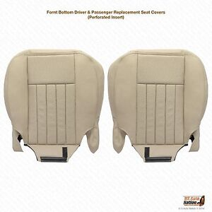 2003 2004 Lincoln Navigator Driver Passenger Bottom Leather Seat Cover Tan