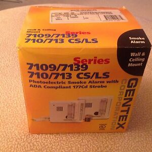 New Gentex 710ls w Hearing Impaired Smoke Fire Detector W strobe 8 Available