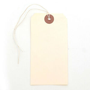 Count Of 1000 New Manila Shipping Blank Tag With String 2 3 8 X 4 3 4