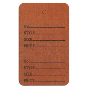 1000 Pc New Perforated Brown Merchandise Tags Without Strings 1 3 4 x2 7 8