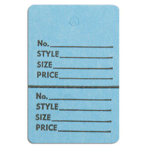 1000 Pc New Perforated Blue Merchandise Tags Without Strings 1 1 2 x1 3 4