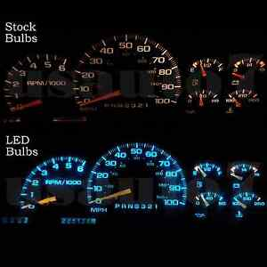 Dash Cluster Gauges Aqua Blue Smd Led Light Bulbs Kit Fits 95 98 Chevy Silverado