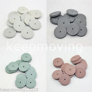 50 Pcs Silicone Rubber Polishing Wheels Polisher For Dental Jewelry Rotary Tool