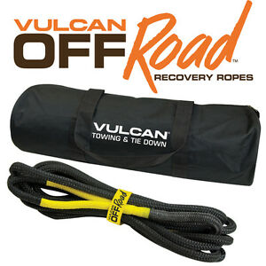 Vulcan Off Road Recovery Tow Rope 1 2 X 20 7 000 Pounds Rated Capacity W Bag